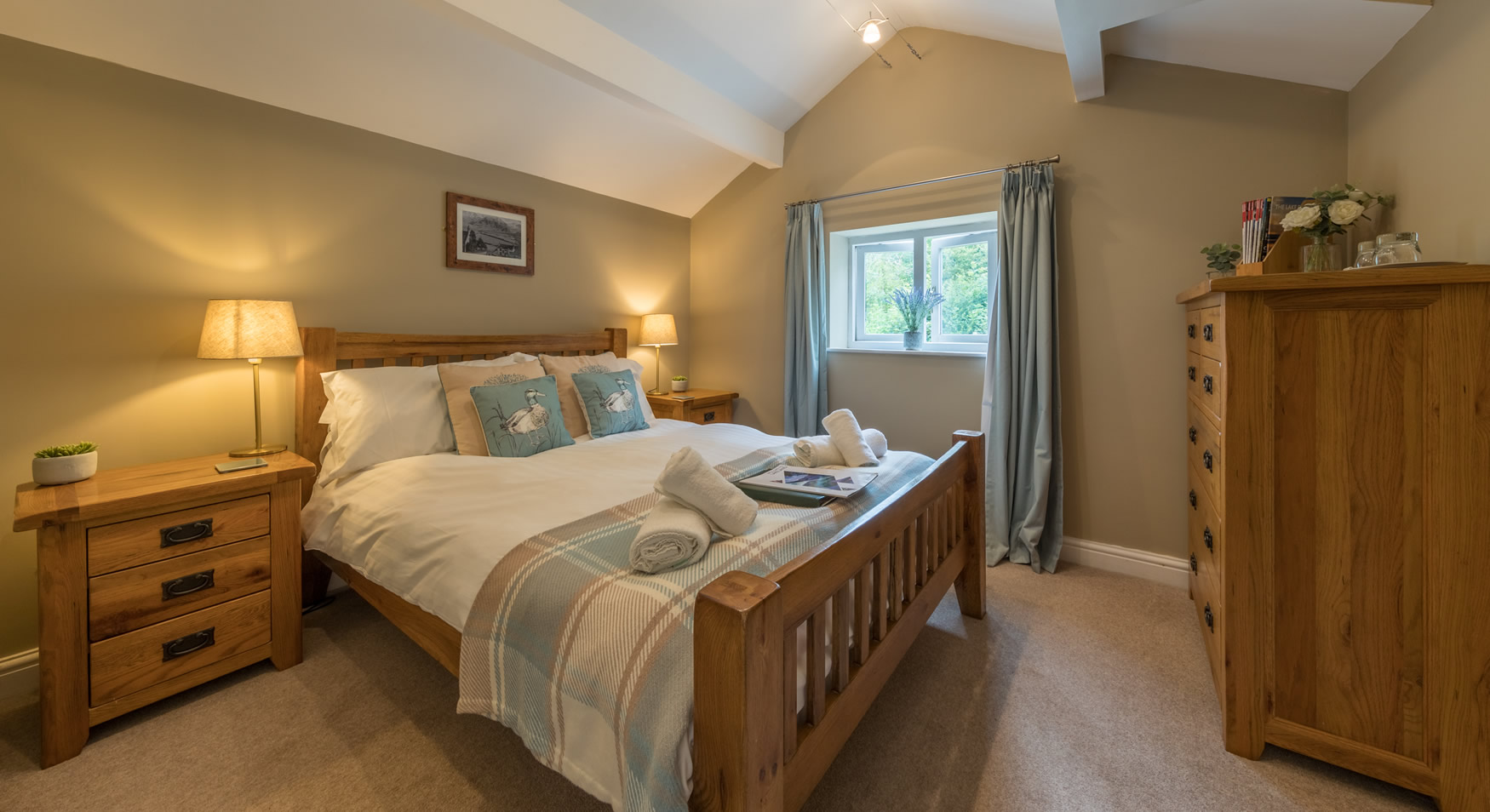 Newly refurbished bedrooms